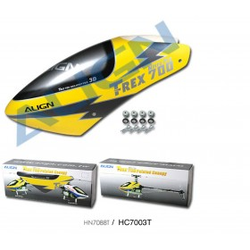 HC7003T (a.k.a. HN7088T) ALIGN 700N Painted Canopy, Yellow, for T-REX 700 Nitro Pro