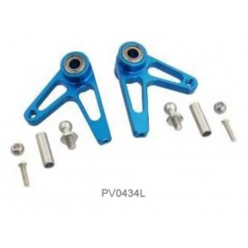 PV0434L THUNDER TIGER Metal Aileron Control Arm, R60/R90 Blue