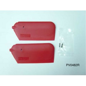 PV0482R THUNDER TIGER Ultra Light Weight Paddle 20g (Red), for Raptor R30/50 / R50 Titan/SE Option Part / Titan X50 Torque-tube