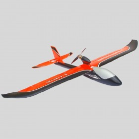 Huntsman V2 1100mm RC Glider, Fluorescent REDDISH-ORANGE, Plug-and-Play