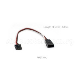 6 Inch Aileron Extension, Futaba type, Length: 6 Inch / 152.4mm Servo Extension, Cable, Wire