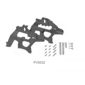 PV0032 THUNDER TIGER Main Frame Set, for Raptor 30/50 V1