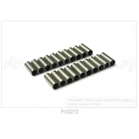 PV0272 THUNDER TIGER Collar d3xD4xW10 (3x4x10) (20pcs), for Raptor