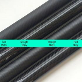 Carbon Fiber Tube, 3K. 7x5x1000mm, 8x6x1000mm, 9x7x1000mm, 10x8x1000mm, 12x10x1000mm, 14x12x1000mm, 16x12x1000mm, 25x23x1000mm