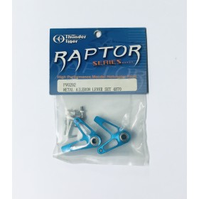 PV0292 THUNDER TIGER Metal Aileron Lever Set (Blue), for Raptor 60/90