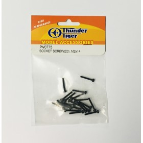 PV0775 THUNDER TIGER Socket Screws M2x14 (20pcs), for mini Titan E325 / E325 SE / E325 V2 / SE