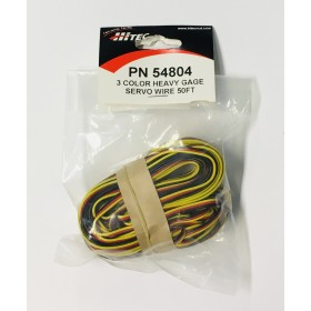PN54804 / 54804 Hitec 50 Feet Heavy Duty Servo 3-Color Servo Wire (50 Feet / 15.24M)