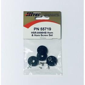 PN55719 / 55719 Hitec Horn & Horn Screw Set, for HSR-8498HB/ HSR-5498SG / Robonova-I