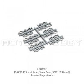 "LPAR06E [1/8"" (3.175mm), 4mm, 5mm, 6mm, 5/16"" (7.94mm)] Adapter Rings - 6 sets, LPAR06E"