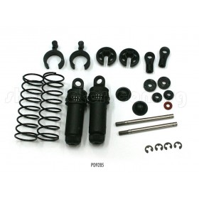 PD9285 THUNDER TIGER Front Shock Set, TA-B, for Sparrowhawk XXB/XB, Tomahawk BX / Fr Shock Set