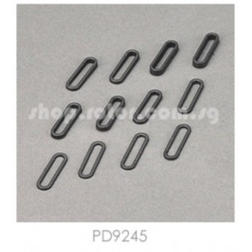 PD9245 THUNDER TIGER Exhaust Pipe Mounts, TAED, for [6534-F] Sparrowhawk DX Drift, [6576] Sparrowhawk DX II Option Part