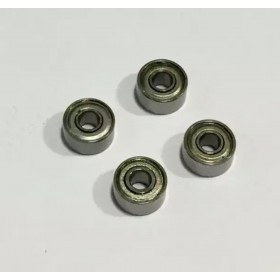 693ZZ Bearing (4pcs), Inner Diameter X Outer Diameter X Height: 3x8x4mm
