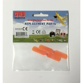 "GWEP25082P GWS 2 Blade Electric Propeller (2pcs), EP2508 - 2.5x0.8"", 65x20mm, Orange"