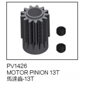 PV1426 THUNDER TIGER Motor Pinion 13T, X50E, for Raptor [4757] Titan X50 Flybarless Electric Option Part