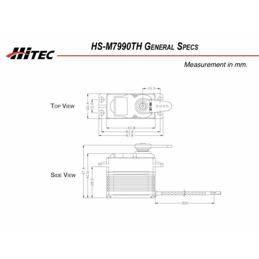Hitec HS7955TG Digital Servo G2 Premium Super Torque