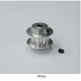 PV1416 THUNDER TIGER Metal Tail Pulley 9T, for Raptor [4855] Titan X50 Option Part