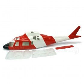 [NETT] Agusta A-109 Fiberglass Fuselage 50 size Coast Guard colour