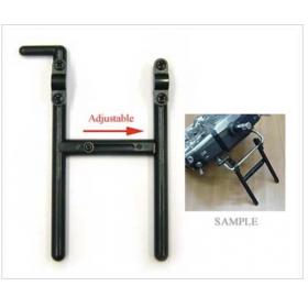 EX1191 EXCELLENCE Transmitter Stand (Adjustable) (Black) (for diameter 5mm), for Hitec, Futaba, JR Tx radios