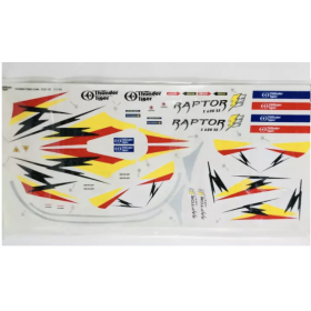 PV0565 THUNDER TIGER Decal, Raptor E620 SE (Decal Size: 64x30cm)