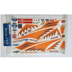 PV0366 THUNDER TIGER Decal, Raptor 30V2 (Decal Size: 41x27cm)