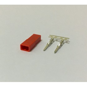 EX1339 EXCELLENCE Female JST Connector, Tin Plated Terminals, 2 Pin