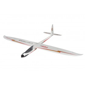 Lightning V2 1500mm RED RC Electric Glider Plane (Propeller powered System) PNP