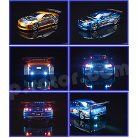 AQ1714 THUNDER TIGER LED Lighting Kit II for 1/10 Scale Drifting Cars - Suitable for Sparrowhawk DX Drift Option / DX II