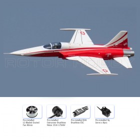 F-5 Tiger II Swiss 80mm EDF Electric Ducted Fan Fighter Jet Airplane, Wingspan 800mm, Plug-and-Play, PNP