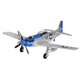 "P-51 Mustang 750mm BLUE ""Moonbeam McSwine"" RC Electric Warbird Aircraft PNP"