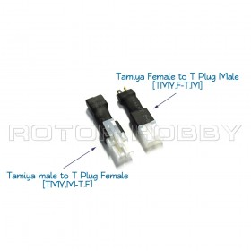 Tamiya Connector to T Plug Adapter. Please choose TMY.F-T.M or TMY.M-T.F