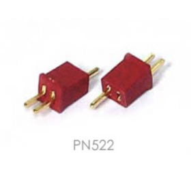 PN522 Astro Flight Inc. (USA): Astro 522 Deans Two Pin Micro Connector - 1 Pair (micro connectors)