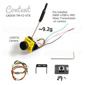 Caddx Turbo Micro F2 1200TVL camera with pre-installed EWRF e7087u PRO Video Transmission (VTX) for FPV use