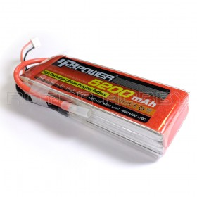 11.1V 5200mAh 60C LiPo Battery, no connector
