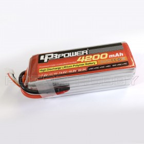 22.2V 4200mAh 60C LiPo Battery, no connector