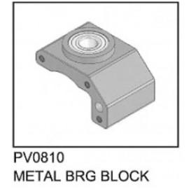 PV0810 THUNDER TIGER Metal Bearing Block, for [4710] mini Titan E325 Option Part / [4711] mini Titan E325 SE Option Part