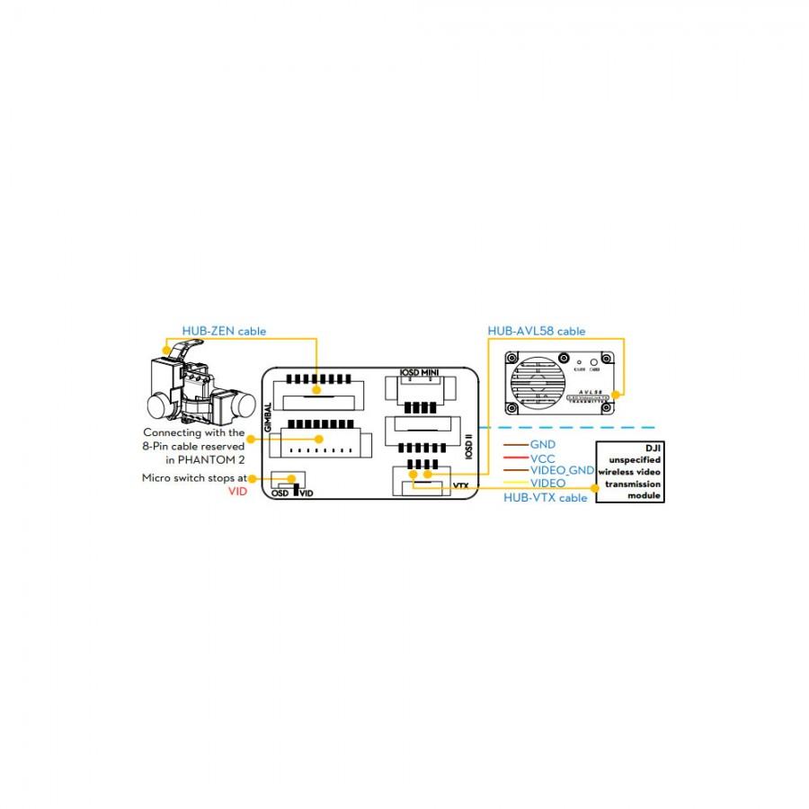 DJI Phantom 2 FPV Cable and hub PART 9