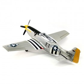 P-51 Mustang V2 Silver 1200mm Electric Airplane w/ Lights, PNP