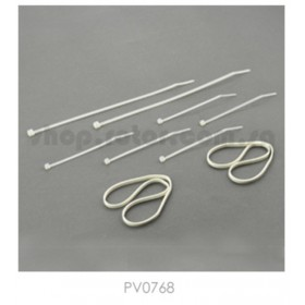 PV0768 THUNDER TIGER Rubber Band & Nylon Strap Set, for [4710] mini Titan E325 / [4711] mini Titan E325 SE