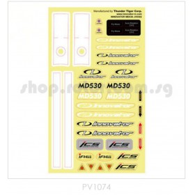 PV1074 THUNDER TIGER MD530 Decal, for Innovator MD530
