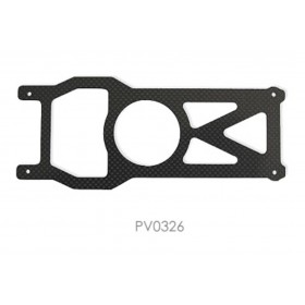 PV0326 THUNDER TIGER Carbon Graphite Base Plate, for Raptor 30/50/R50 Titan / R50 Titan SE Option