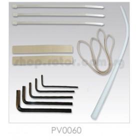 PV0060 THUNDER TIGER Installation Set, with one antenna tube, for Raptor 50 Titan / 50 Titan SE / Titan X50