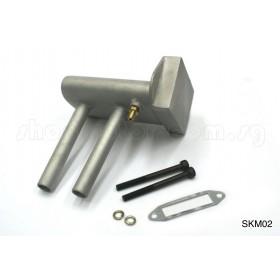 60-90 Scale Model Muffler / Vent Pipe
