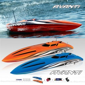 Thunder Tiger Avanti Off-shore Deep Vee Electric Powered Racing Boat, Length 740mm (Combo Plus), ARTR