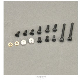 PV1239 THUNDER TIGER Screw Pack for Tail, for [4712] mini Titan E325 V2 / [4713] mini Titan V2 SE (Torque-tube version)