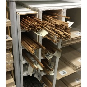 PL0808 1-Metre Pine Ledge, LxWxH: 1000 x 8 x 8mm (100 x 0.8 x 0.8cm)
