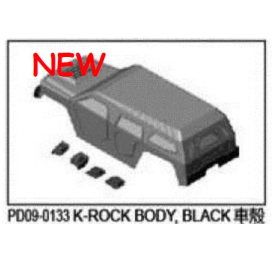 Thunder Tiger RC Car K-rock Parts K-ROCK BODY,BLACK PD09-0133
