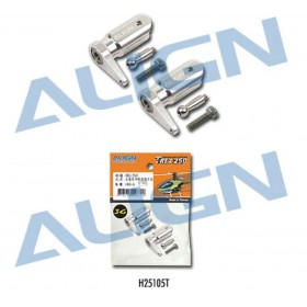 H25105T ALIGN 250FL Main Rotor Holder Set (Silver), for T-REX250 3G Programmable Flybarless System