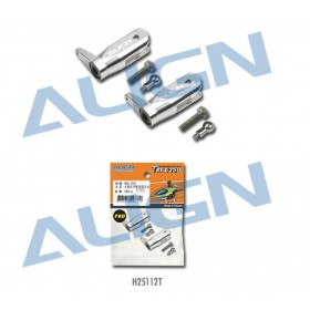 H25112T ALIGN 250PRO Metal Main Rotor Holder Set, Silver for T-REX 250/SE/PRO