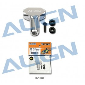 H25104T ALIGN 250FL Main Rotor Housing Set (Silver), for T-REX250 3G Programmable Flybarless System