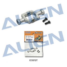 H25007QFT ALIGN Metal Flybar Seesaw Holder (Silver), for T-REX 250/250SE